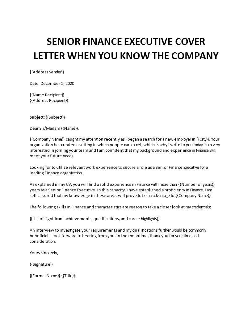 Finance executive cover letter by education essay guide newsweek program step step teen writing