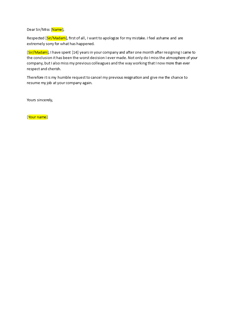 Sample Letter To Previous Employer For Rejoining from www.bizzlibrary.com