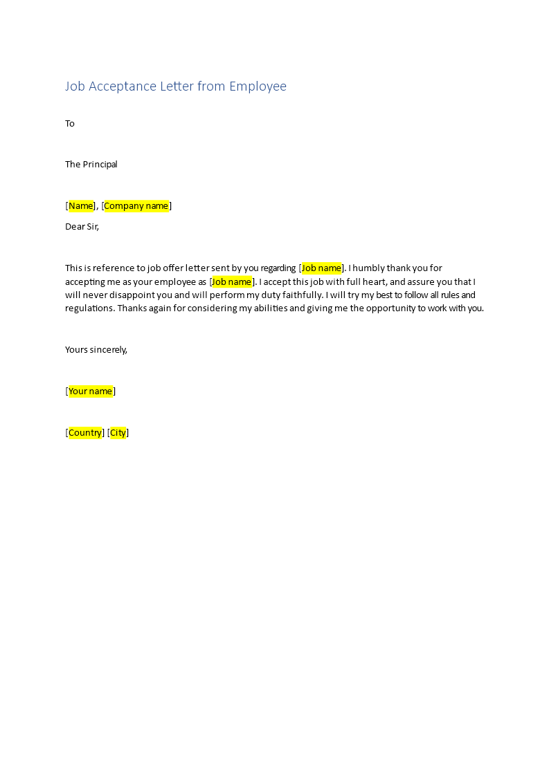 Acceptance Letter For Job from www.bizzlibrary.com