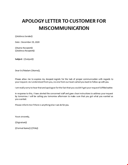 Apology letter for misunderstanding professional Professional Apology